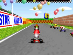 Mario Kart 64 on an UltraHDMI N64 with VI de-blur filter turned on