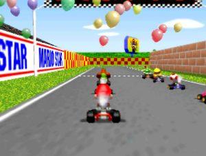Mario Kart 64 on an UltraHDMI N64 with VI de-blur filter turned on