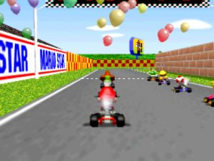 Mario Kart 64 on an UltraHDMI N64 with VI de-blur filter turned off