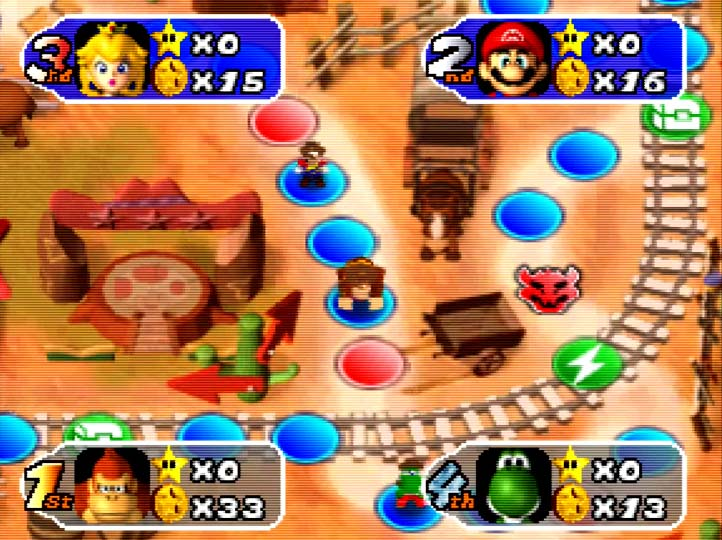 Mario Party 2 - Western Land board