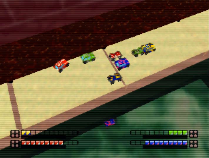Micro Machines Turbo 64 eight player race