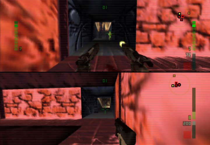 Perfect Dark (N64) two-player Combat Simulator Challenges