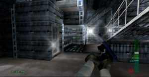 Perfect Dark in widescreen on the UltraHDMI N64's stretch fill mode