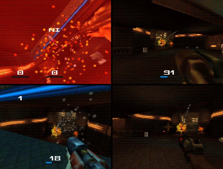Quake II N64 deathmatch multiplayer
