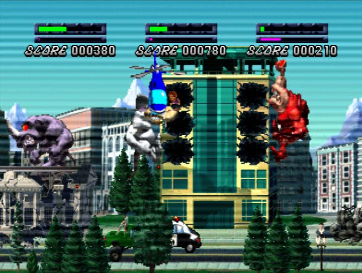 Rampage 2 Universal Tour three-player coop story mode for Nintendo 64