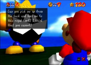 Super Mario 64 on UltraHDMI N64 with gamma boost turned off
