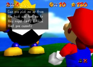 Super Mario 64 on UltraHDMI N64 with gamma boost turned on