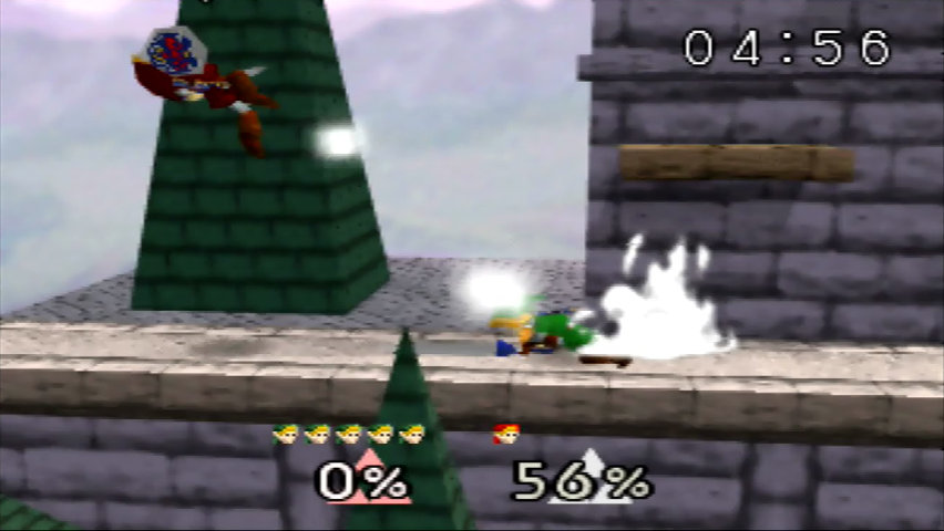 Super Smash Bros. (N64) running on an UltraHDMI N64 in direct mode