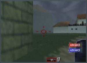 Tom Clancy's Rainbow Six running an UltraHDMI N64 with overscan set to 10