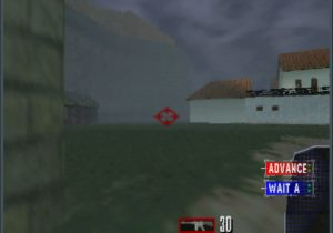 Tom Clancy's Rainbow Six running an UltraHDMI N64 with overscan set to 20