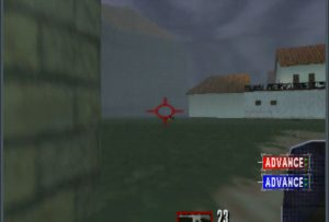 Tom Clancy's Rainbow Six running an UltraHDMI N64 with overscan set to 30