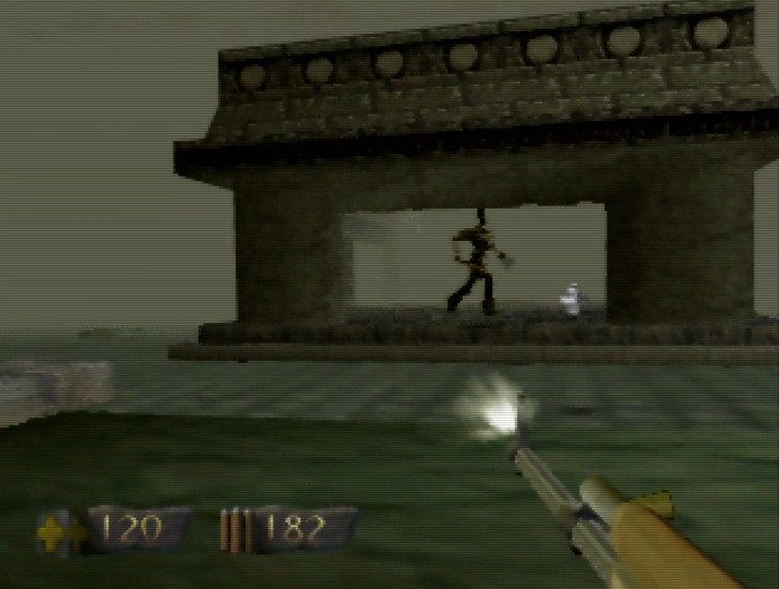Ancient City level in Turok: Dinosaur Hunter for N64