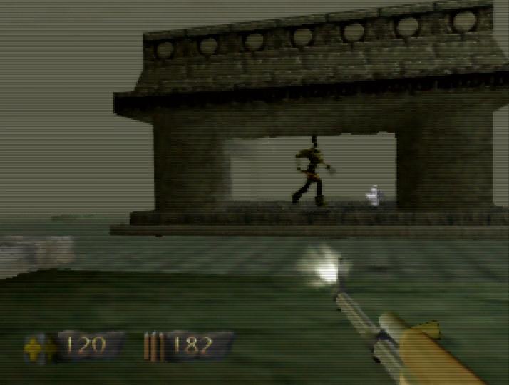 Ancient City level in Turok: Dinosaur Hunter for N64