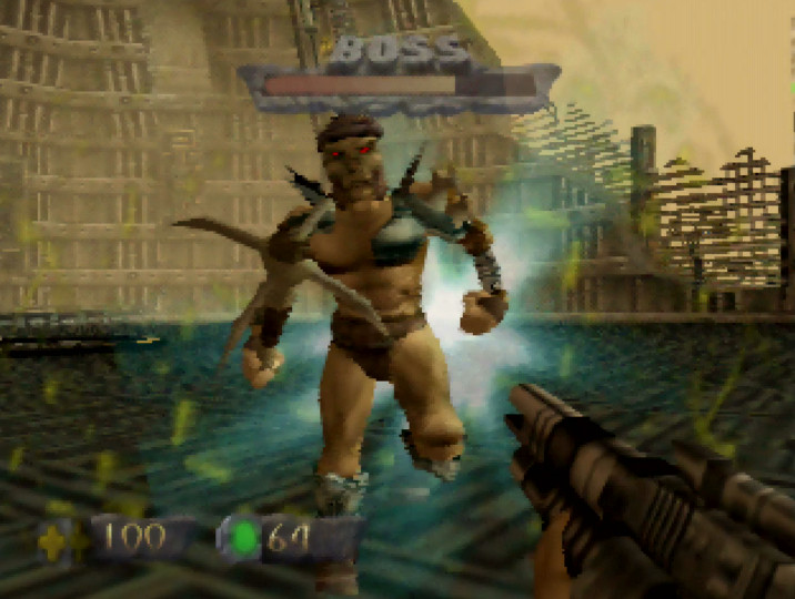 The Campaigner, main villain of Turok: Dinosaur Hunter on N64