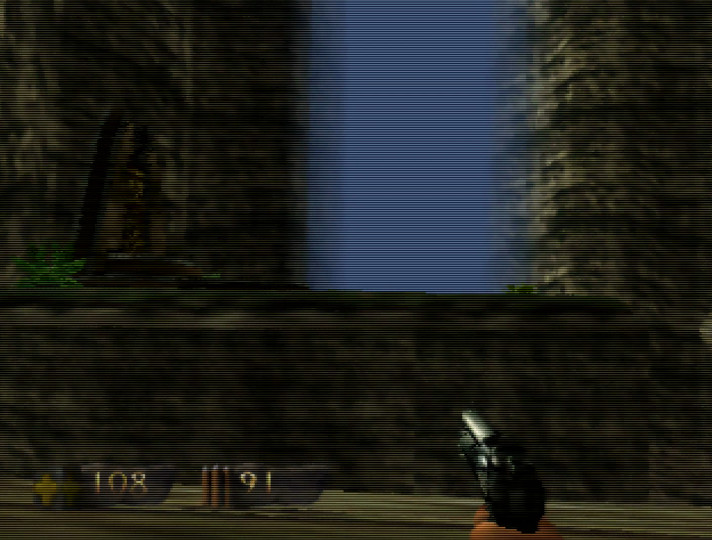A save point in Turok: Dinosaur Hunter for N64