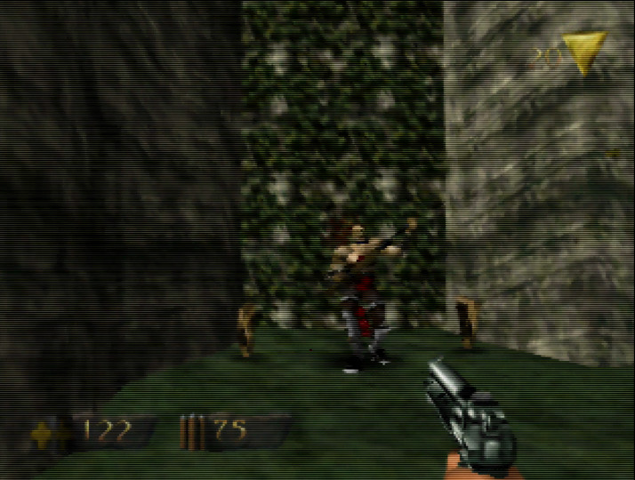 Turok N64 - fighting a soldier
