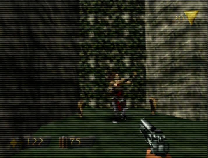 Turok N64 - fighting a soldier