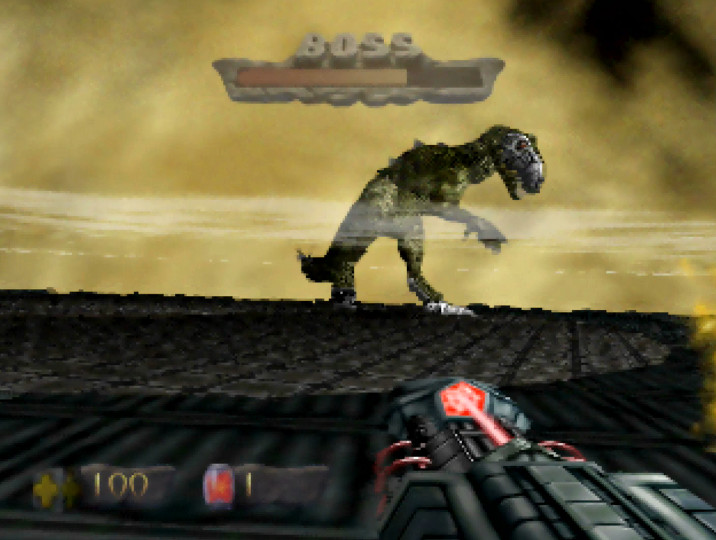 T-Rex boss from Turok: Dinosaur Hunter for Nintendo 64