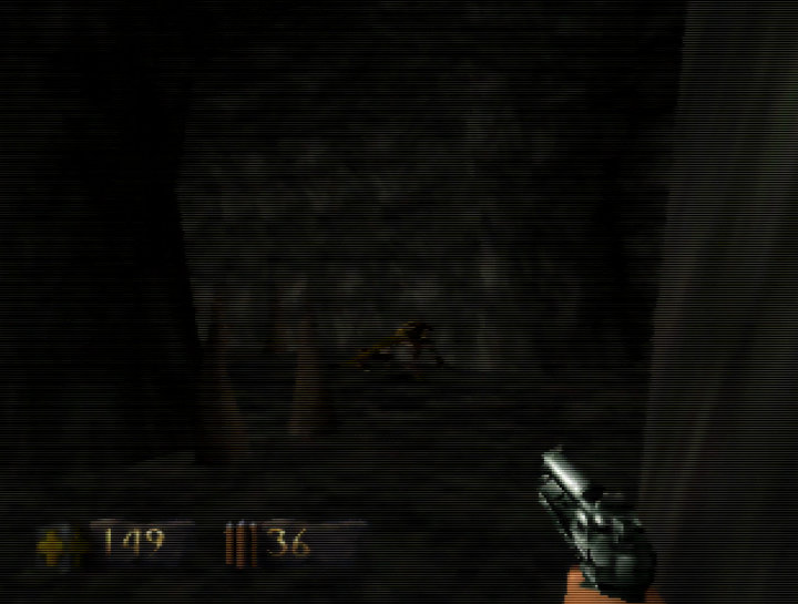 Turok: Dinosaur Hunter running on UltraHDMI N64 with hybrid scanlines turned on