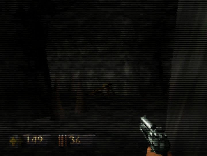 Turok: Dinosaur Hunter running on UltraHDMI N64 with hybrid scanlines turned on