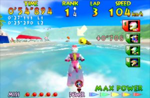 Wave Race 64 running on UltraHDMI N64 with no scanlines