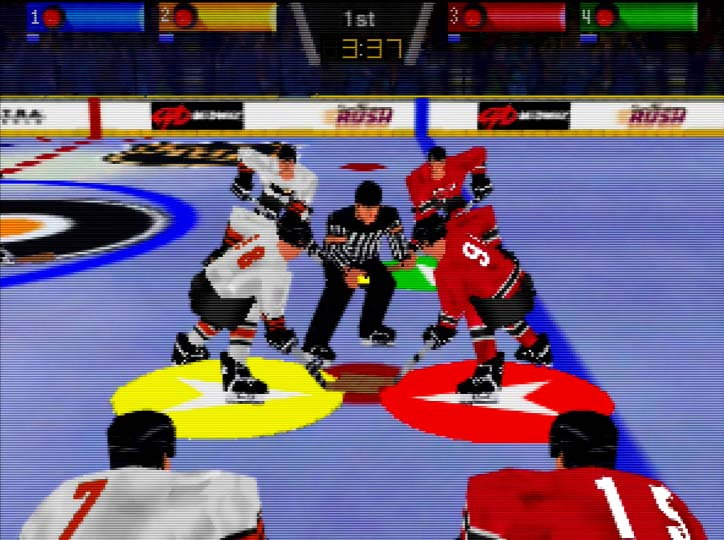 Wayne Gretzky's 3D Hockey '98 multiplayer match