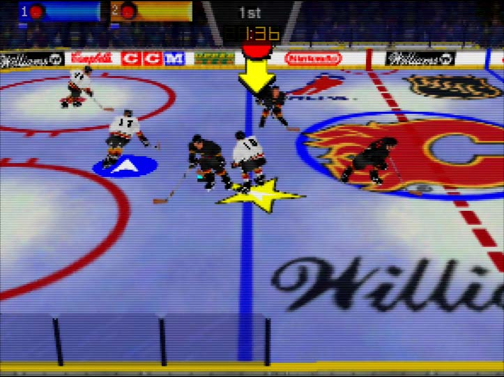 Wayne Gretzky's 3D Hockey for N64 - two player coop against the computer