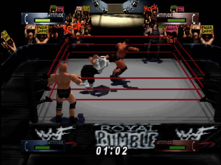 WWF Wrestlemania 2000 tag match - one of the best Wrestling N64 multiplayer games