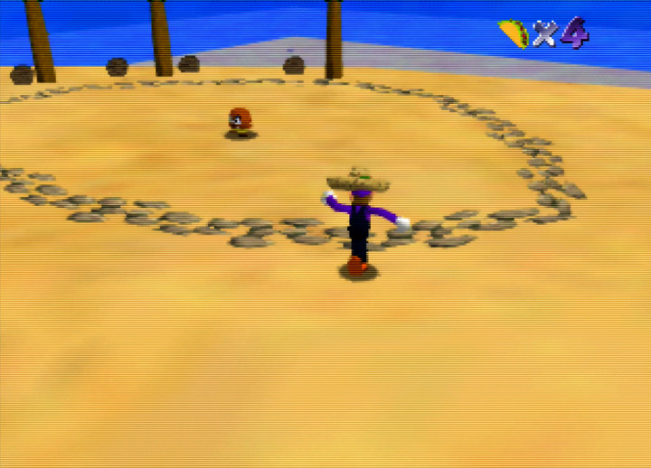 Second level in Waluigi's Taco Stand