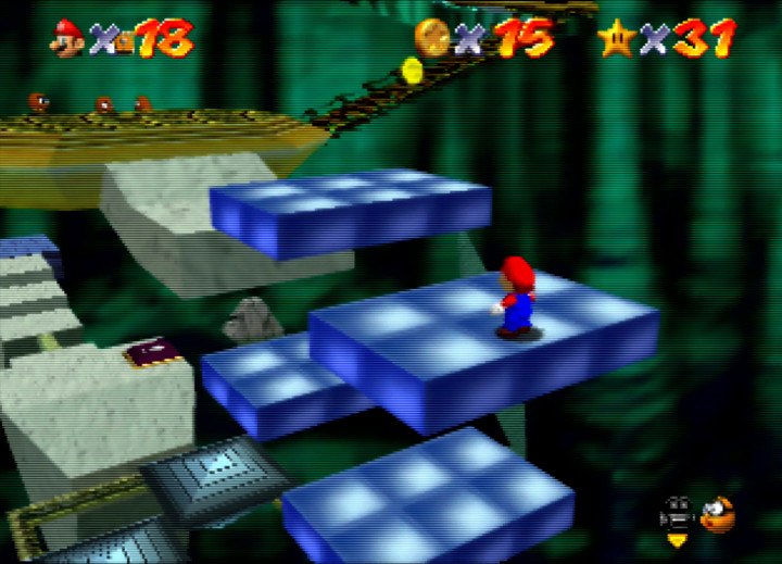 Rotating platforms in Super Mario 64