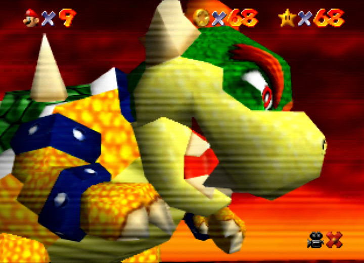 Bowser in the Fire Sea, Super Mario 64