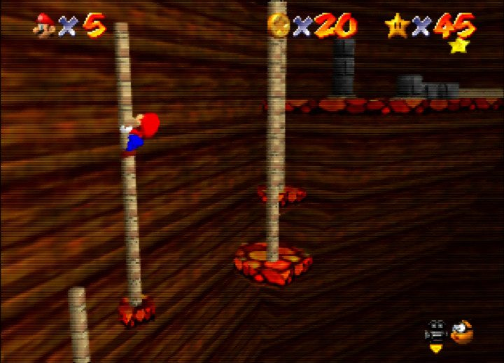Jumping from pole to pole in Super Mario 64