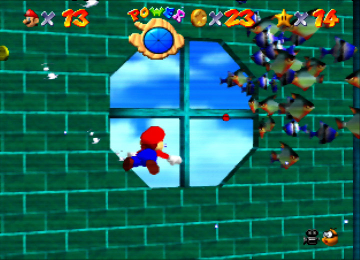 The Secret Aquarium stage from Super Mario 64