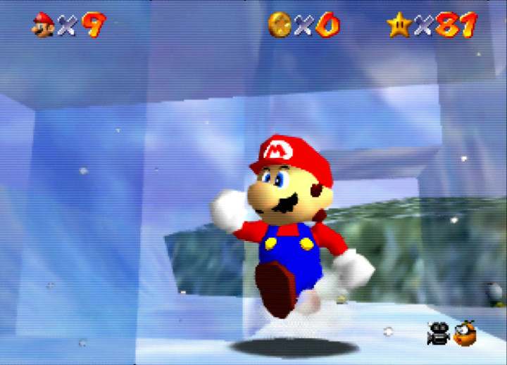 Inside the Ice Block House in Super Mario 64