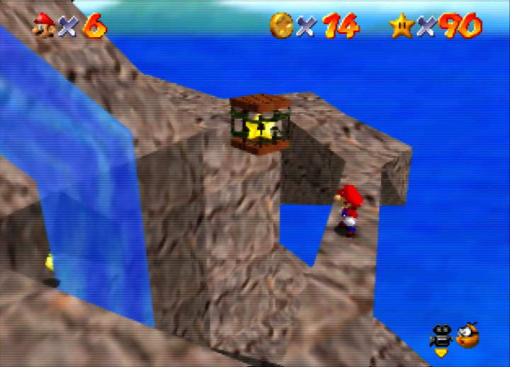 Mystery of the Monkey Cage mission, Super Mario 64 on N64