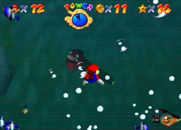 The Unagi eel from Super Mario 64