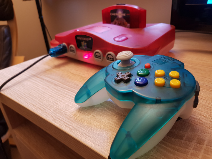 The Hori N64 Mini Pad features an improved N64 joystick