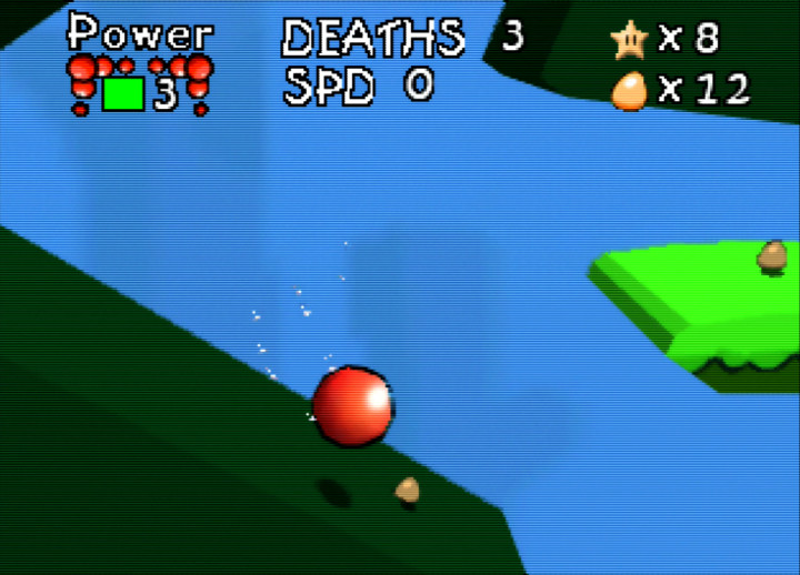 Swimming underwater in Bounce Tales 64