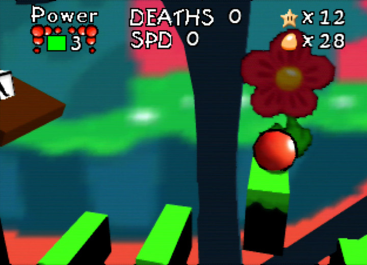 Thin platforms in one of Bounce Tales 64's bonus stages
