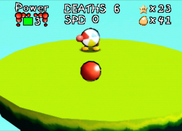 Beach ball boss in Bounce Tales 64