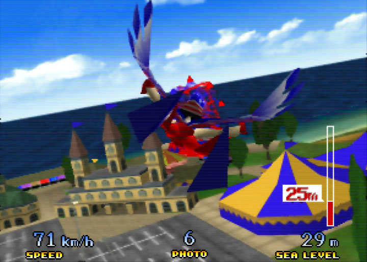 Flying as the Birdman in Pilotwings 64.