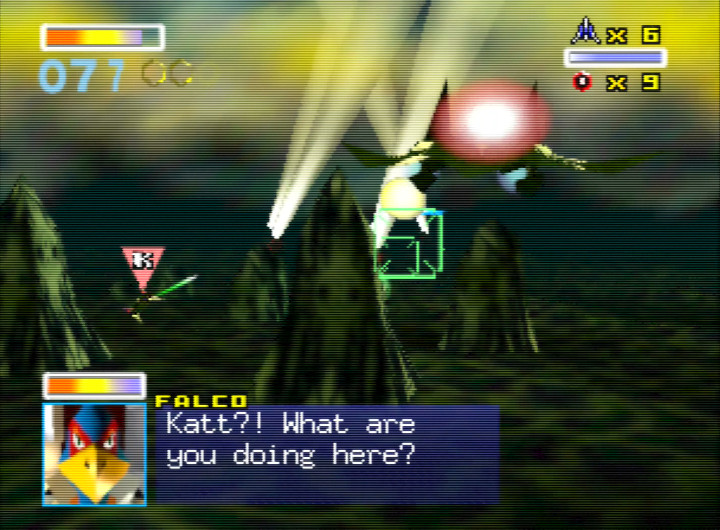 Taking out the searchlights in Star Fox 64's Zoness mission