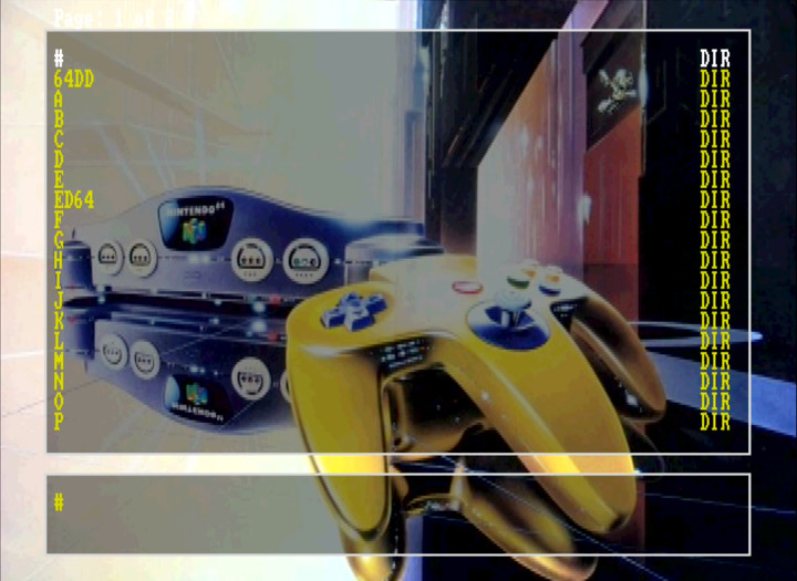 EverDrive 64 wallpaper of a futuristic Nintendo 64 console