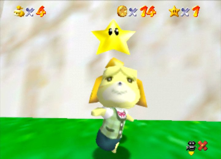 Isabelle gets a star in Super Mario 64 hack Isabelle 64
