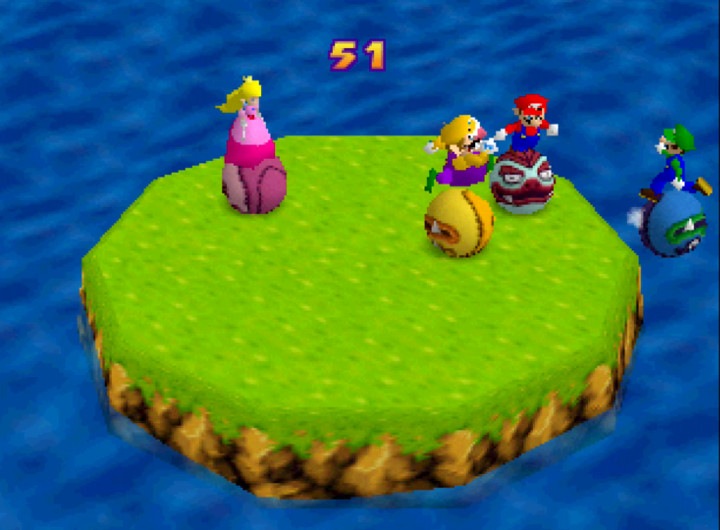 Bumper Balls mini-game from Mario Party 1 on N64