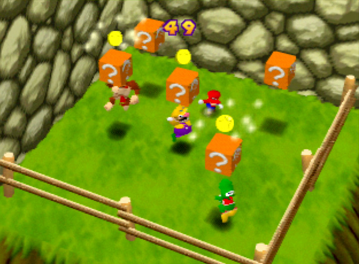 Mario Party's Coin Block Blitz mini-game