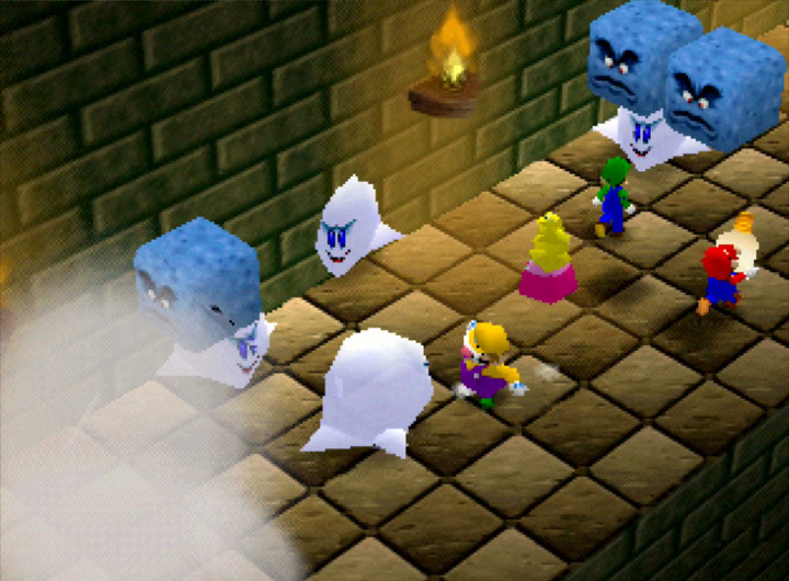 Running of the Bulb mini-game in Mario Party 64