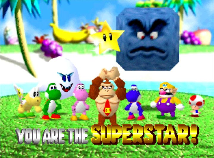 DK is the Super Star of Yoshi's Tropical Island in Mario Party N64