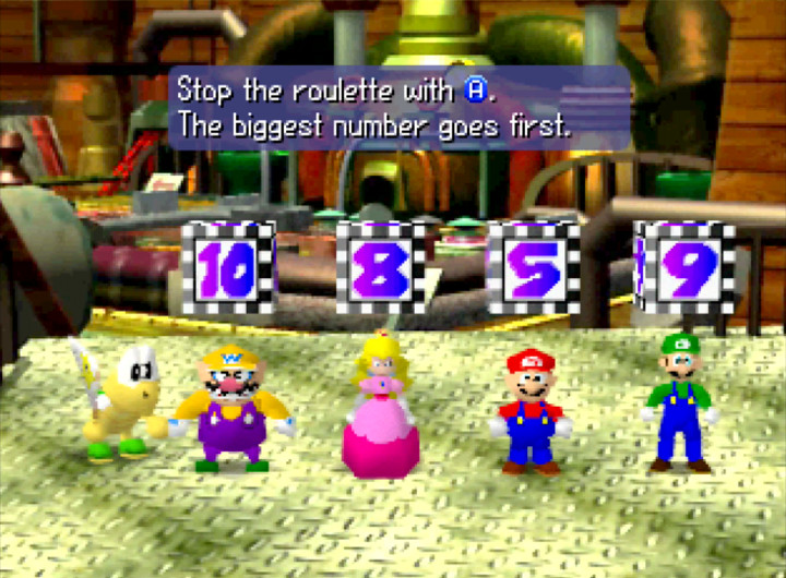 Deciding turn order in Mario Party on N64