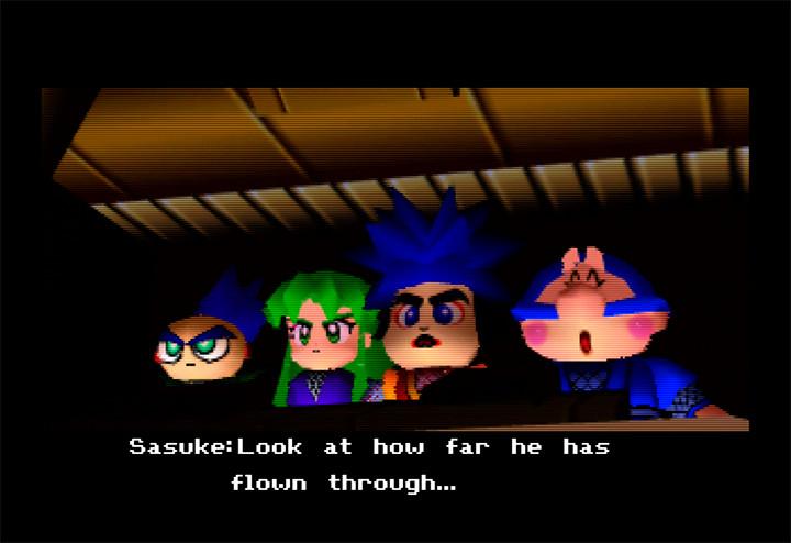 Cutscene from Mystical Ninja Starring Goemon for N64.